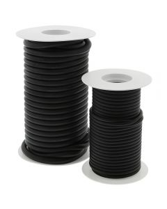 Large and Small Black Surgical Tubing Rolls