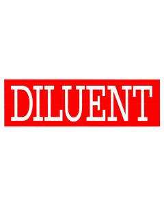 Diluent Decal