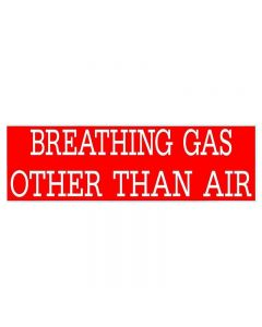 Breathing Gas Other Than Air Decal