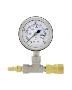 Supply Pressure Gauge with Quick-Disconnect Tee