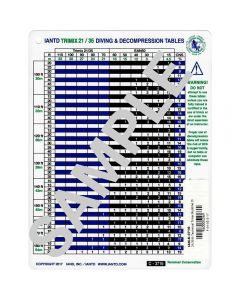 21/35% Technical Trimix Runtime Dive Table w/Accelerated Deco