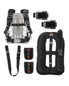 DR TransPlate Package w/ XT Light Backplate, Travel EXP Wing, 8 lb Travel Weight System, 1.5-in Crotch Strap and DGX Tank Straps
