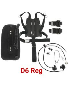 DGX Gears Singles Harness, Wing, and D6 Reg Package with AL Backplate