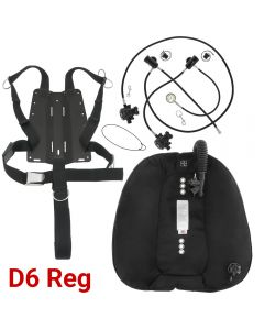 DGX Gears Doubles Wing, Harness and D6 Reg Package with AL Backplate