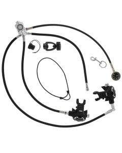 XR Streamlined OW Reg Package w/ Braided Flex Hoses and Black Gauge Thin PSI SPG