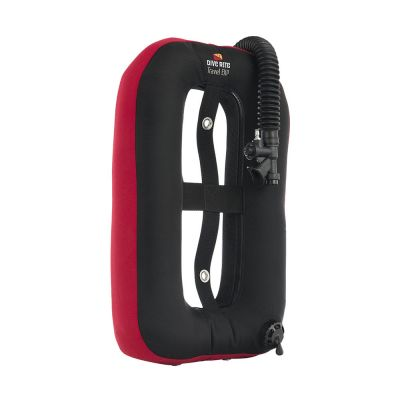Dive Rite Travel EXP Wing - RED {25 lb | 11 kg} Lift w/ Plain Elbow, 16-in Hose