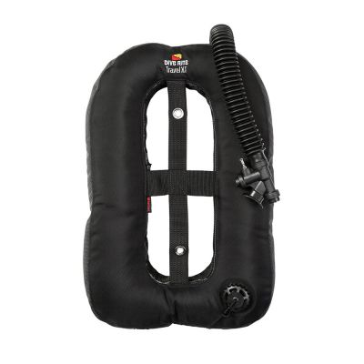 Dive Rite Travel XT Armored Wing ({25 lb | 11 kg} Lift) w/Plain Elbow, 12-in Hose