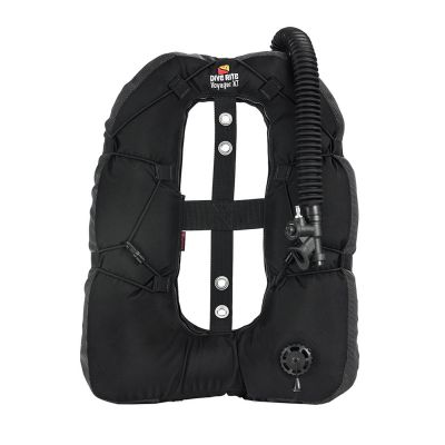 Dive Rite Voyager XT Armored Wing ({35 lb | 16 kg} Lift) w/Plain Elbow, 16-in Hose