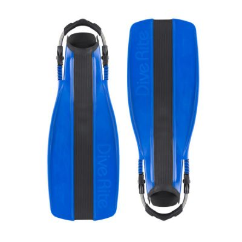 Dive Rite XT Fins w/ Adjustable Spring Heels, Small - Blue