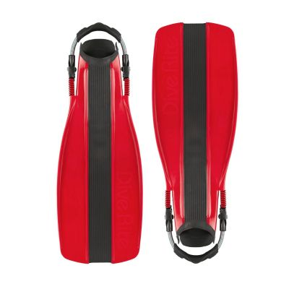 Dive Rite XT Fins w/ Adjustable Spring Heels, Medium - Red