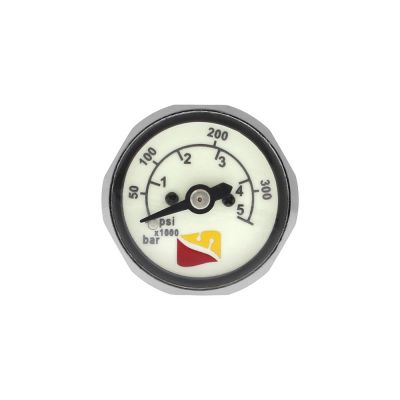 Dive Rite Button Dual SPG in PSI and BAR with Logo Face