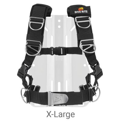 Dive Rite Transplate Harness Only (2021 Model), X-Large, Black