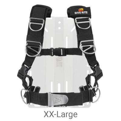 Dive Rite Transplate Harness Only (2021 Model), XX-Large, Black