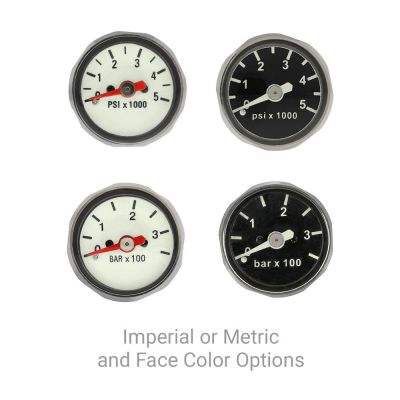 Imperial or Metric and Face Color Options