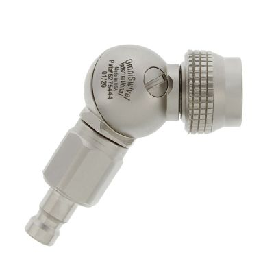 OmniSwivel AGA Swivel To QD Male With Check Valve