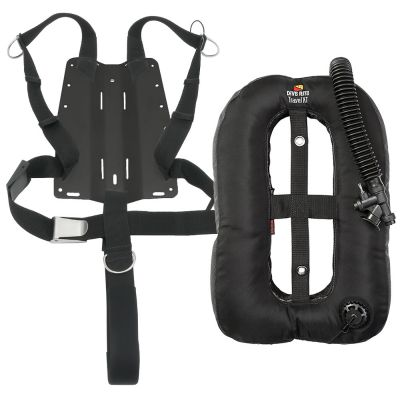 DR Travel XT, Aluminum Backplate and Harness w/ 2-Inch Crotch Strap