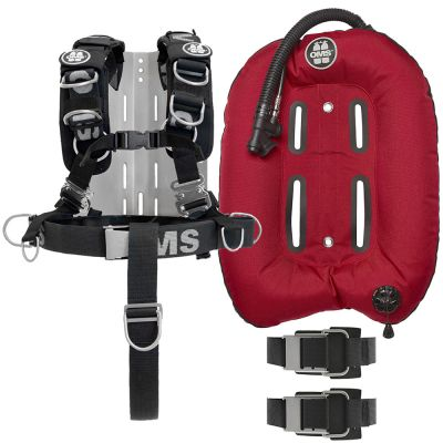 Comfort Harness III w/ SS Hardware and Backplate and Red Mono 32 lb Wing