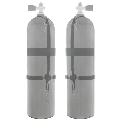 Sidemount Cylinder Package w/ Choice of Valves and Stage Strap Kit