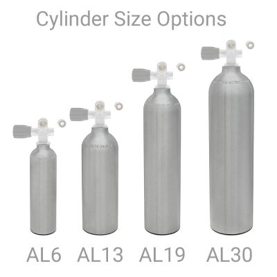 Small Aluminum Cylinders Size Options